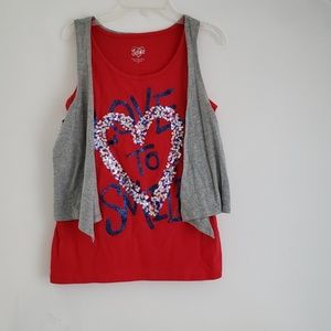 Tank top with  vest